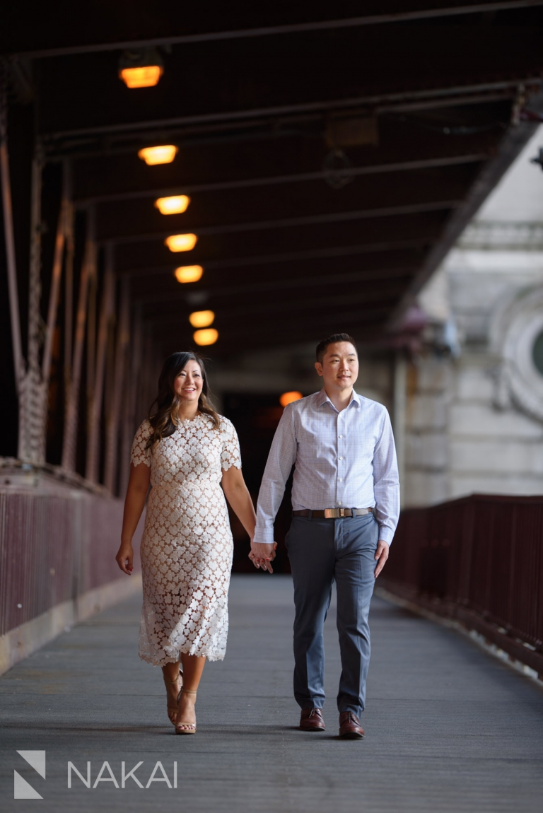 riverwalk best Chicago engagement photo location