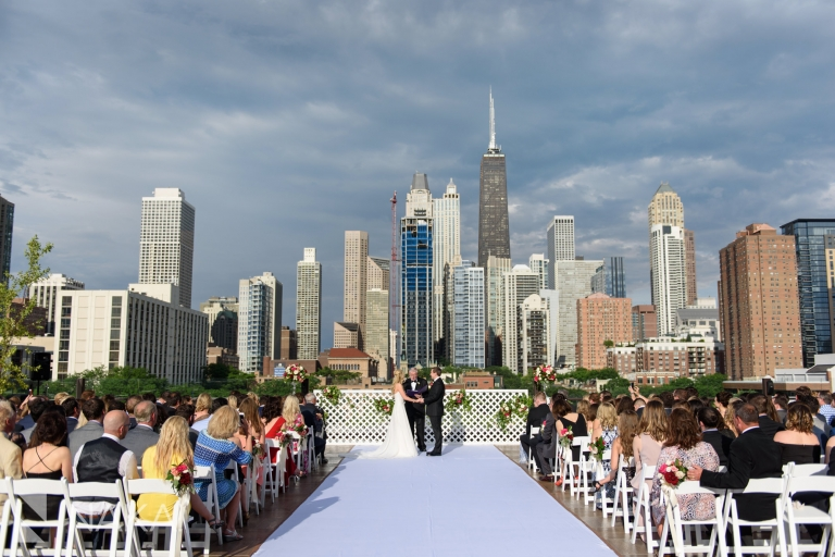 chicago rooftop wedding photos savage Smyth