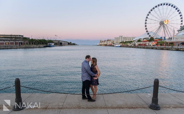 navy pier engagement pictures chicago