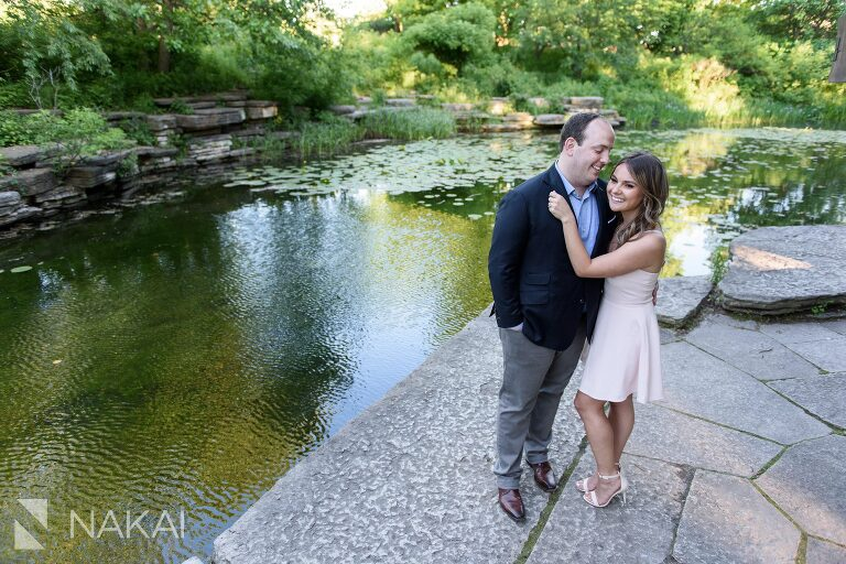 caldwell lily pool engagement pictures chicago Lincoln park