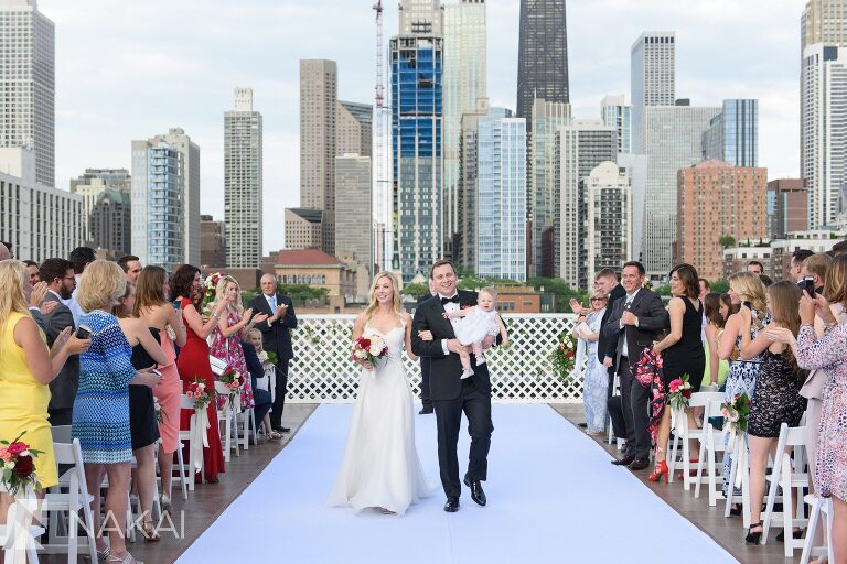 Rooftop Chicago Wedding Photo Skyline Picture