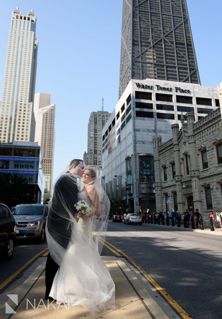 Michigan avenue Chicago wedding photos