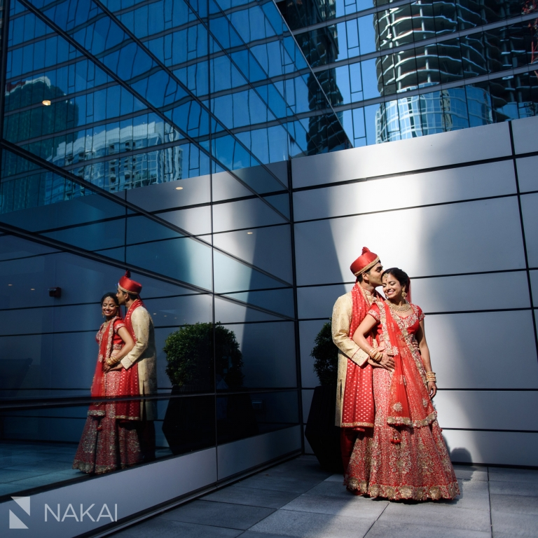 Loews Chicago wedding photos rooftop terrace