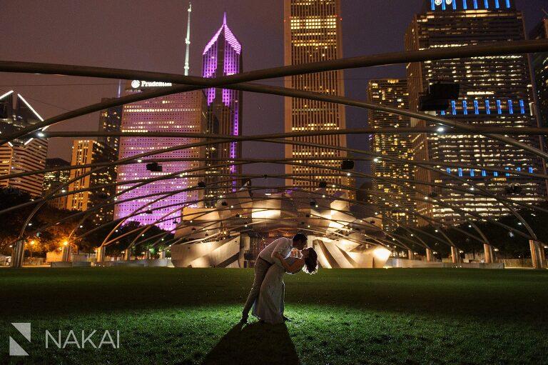 millennium park engagement pictures night photographers