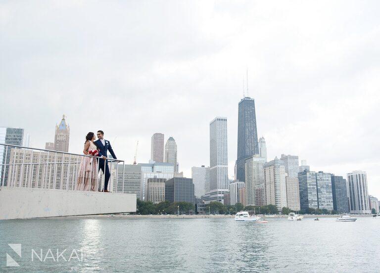chicago Indian wedding photos olive park bride groom