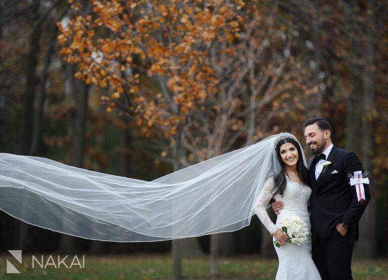 fall wedding photos Chicago bride groom