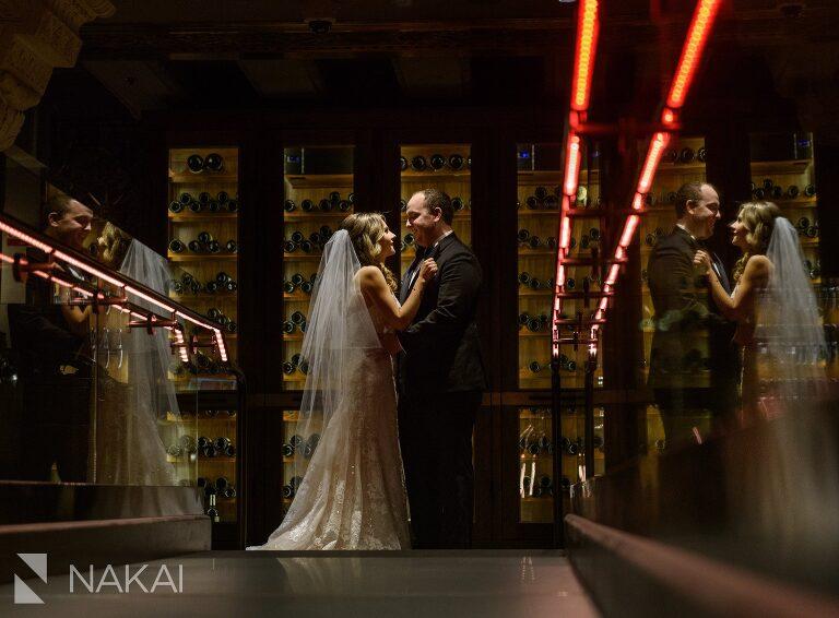 intercontinental chicago magnificent mile wedding photographer bride groom
