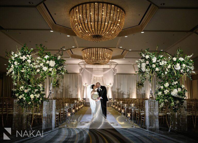 fairmont chicago wedding photographer bride groom ceremony