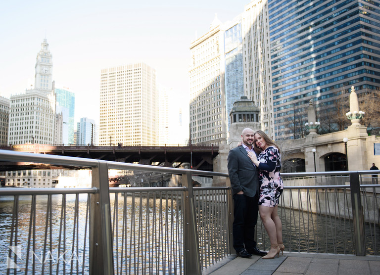 riverwalk Chicago engagement photography