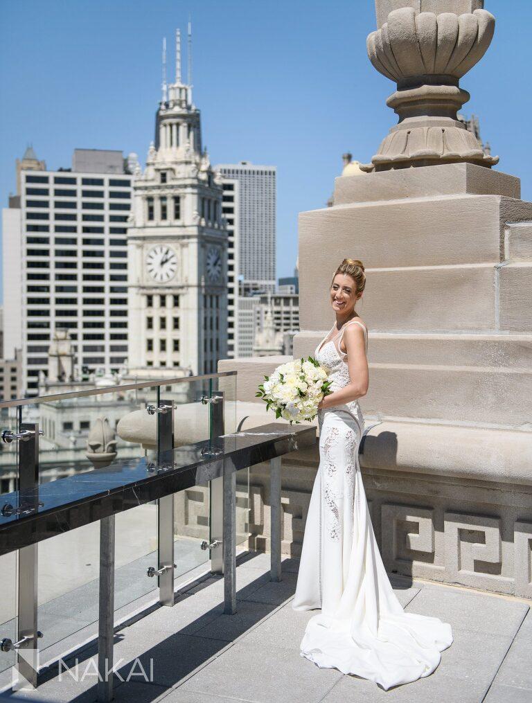 londonhouse Chicago wedding photo cupola rooftop bride