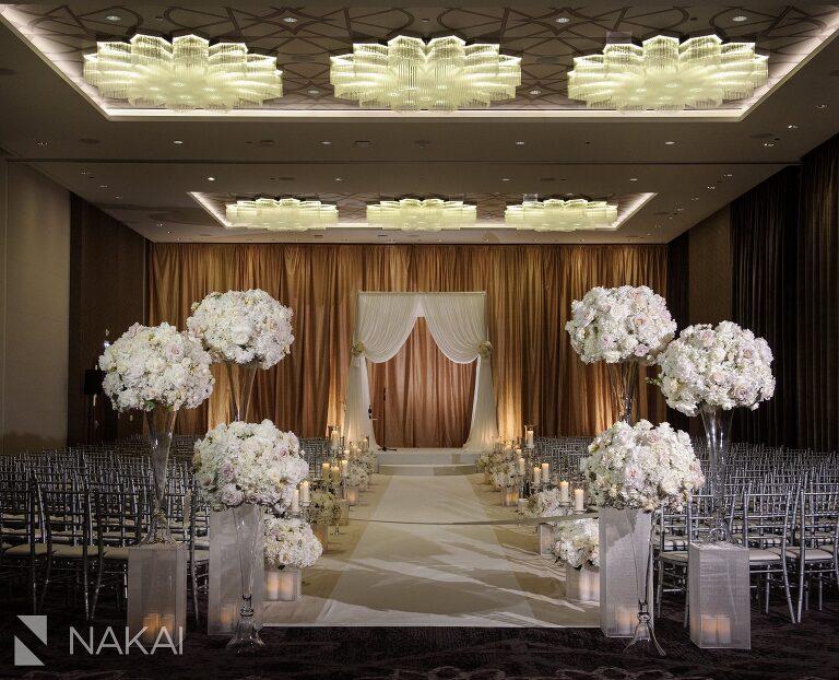 loews chicago wedding photo ceremony ballroom