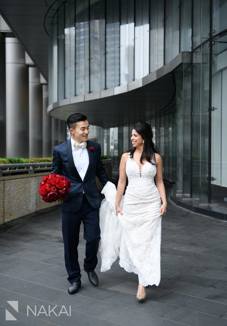best Chicago riverwalk wedding photographer bride groom