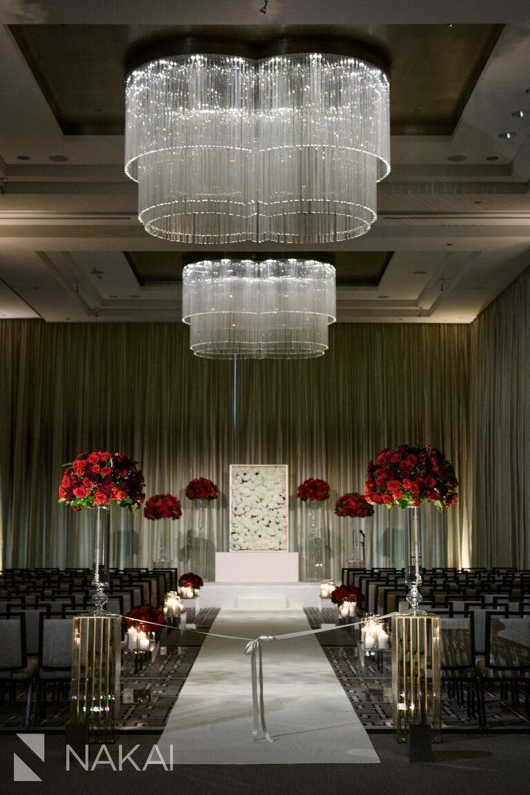 best Langham Chicago wedding photos ceremony ballroom