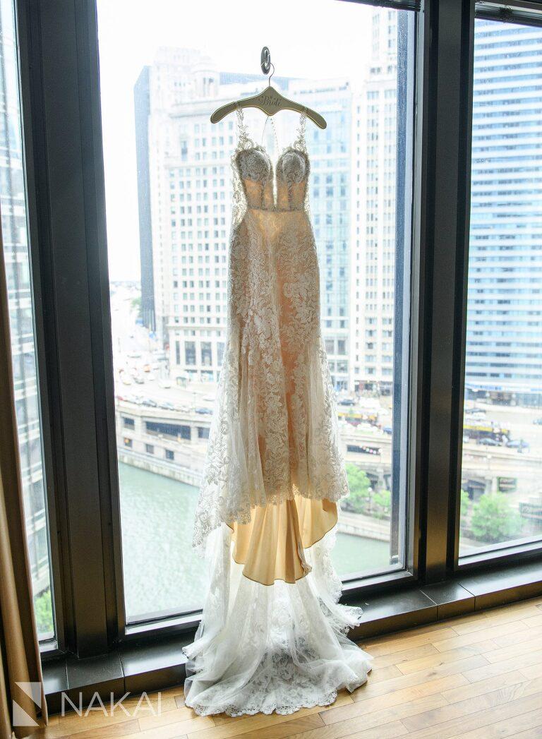 langham chicago wedding photos luxury details dress