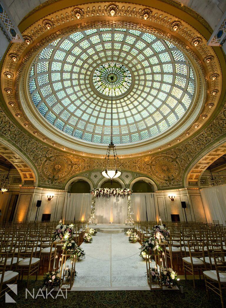 big city bride wedding photo Chicago cultural center ceremony