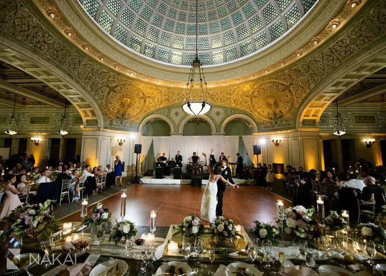 Chicago cultural wedding photographer reception first dance