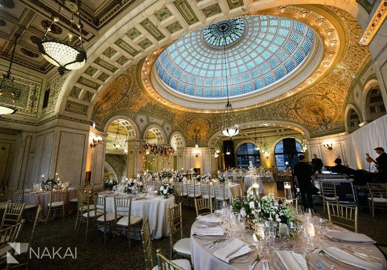 Chicago Cultural Center Wedding.Chicago Cultural Center Langham Luxury Wedding Photos