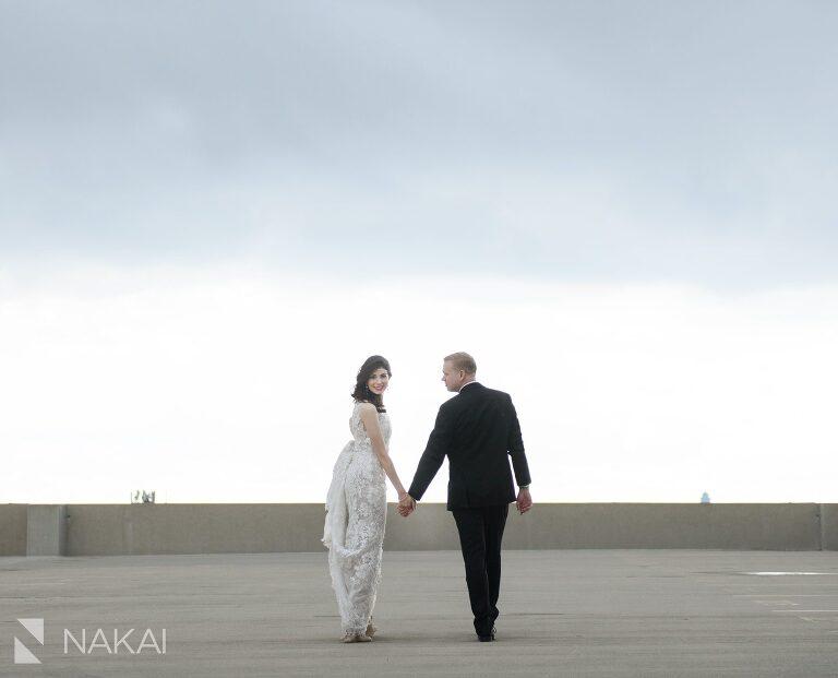 chicago loews o'hare wedding photo bride groom
