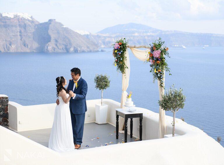 Santorini oia wedding photos destination asian couple
