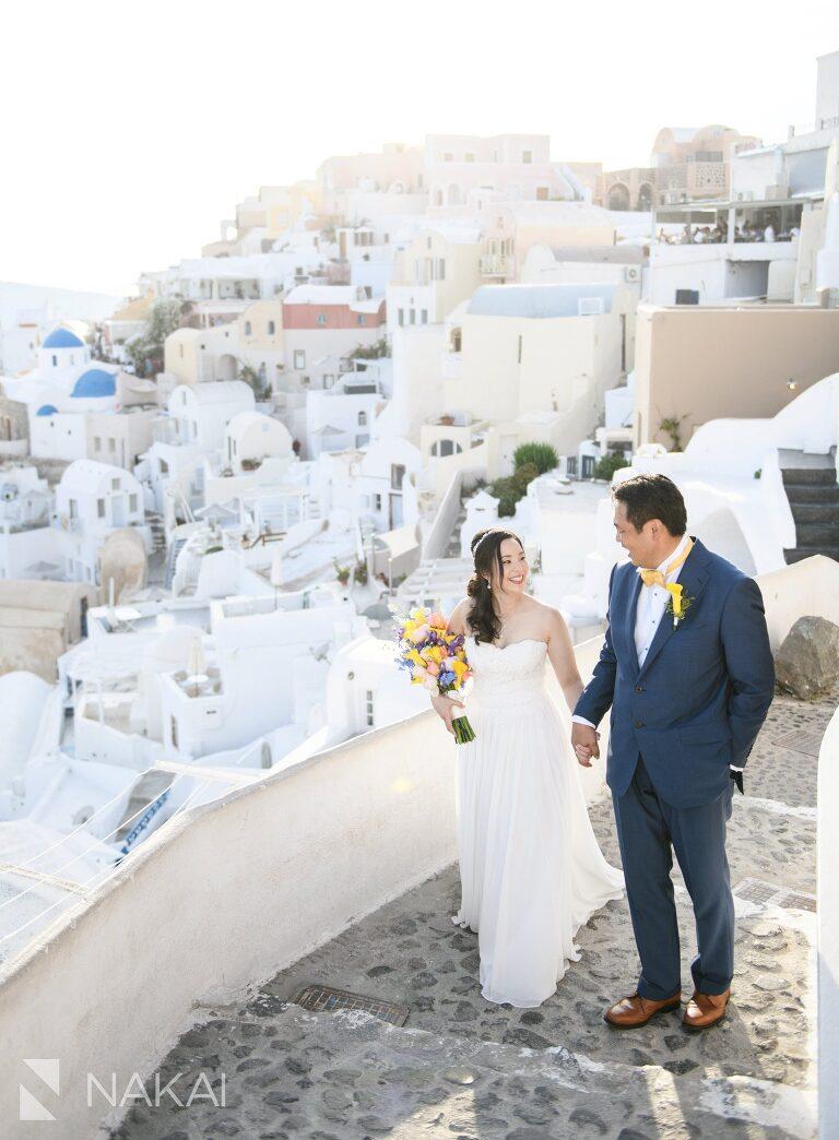 Santorini oia wedding pictures destination asian couple