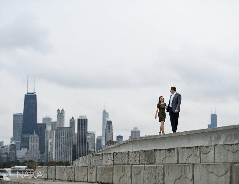 chicago skyline engagement photo