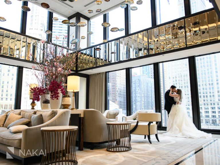 best Chicago wedding venue photos Langham lobby