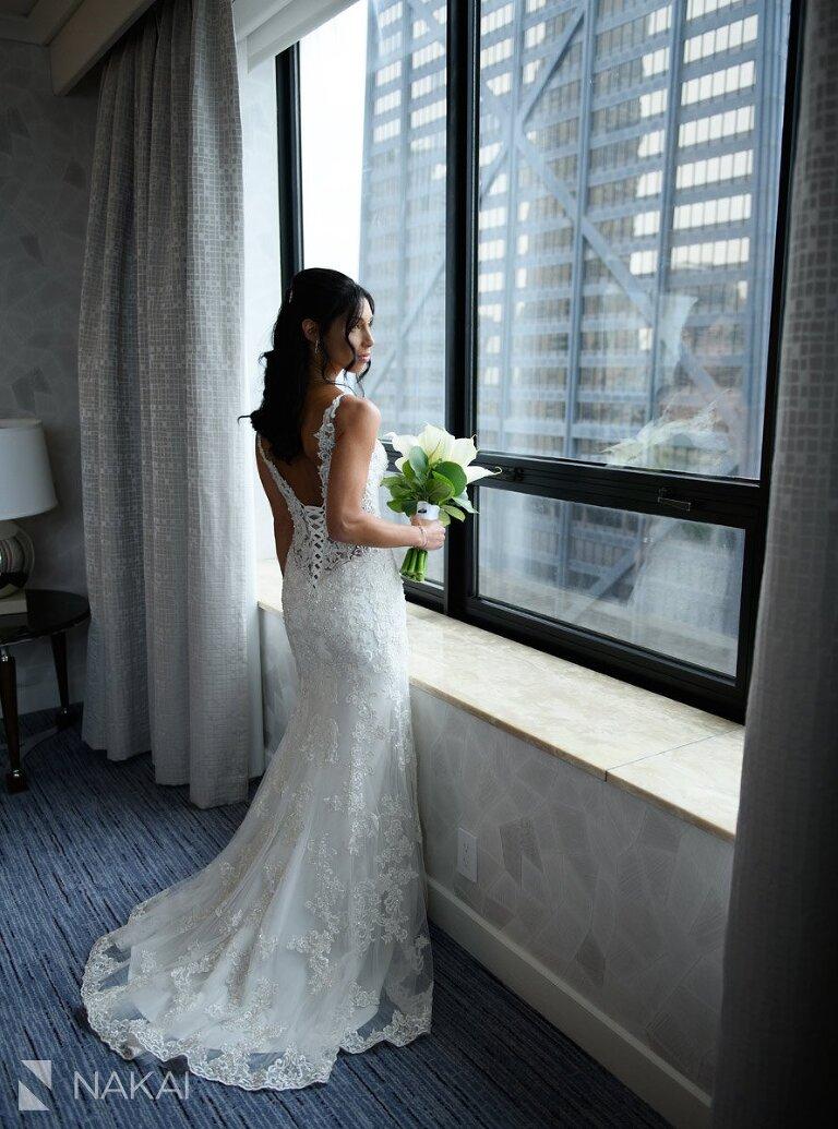 Chicago ritz Carlton wedding photo bride John Hancock