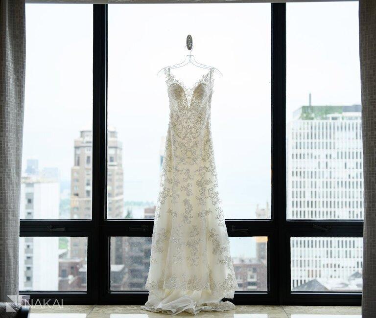Chicago ritz Carlton wedding dress photo