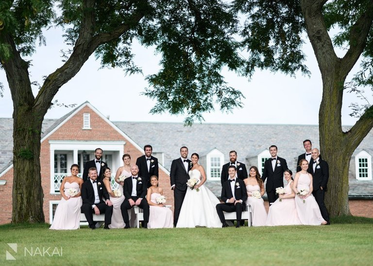 the knollwood club lake forest wedding photo bridal party