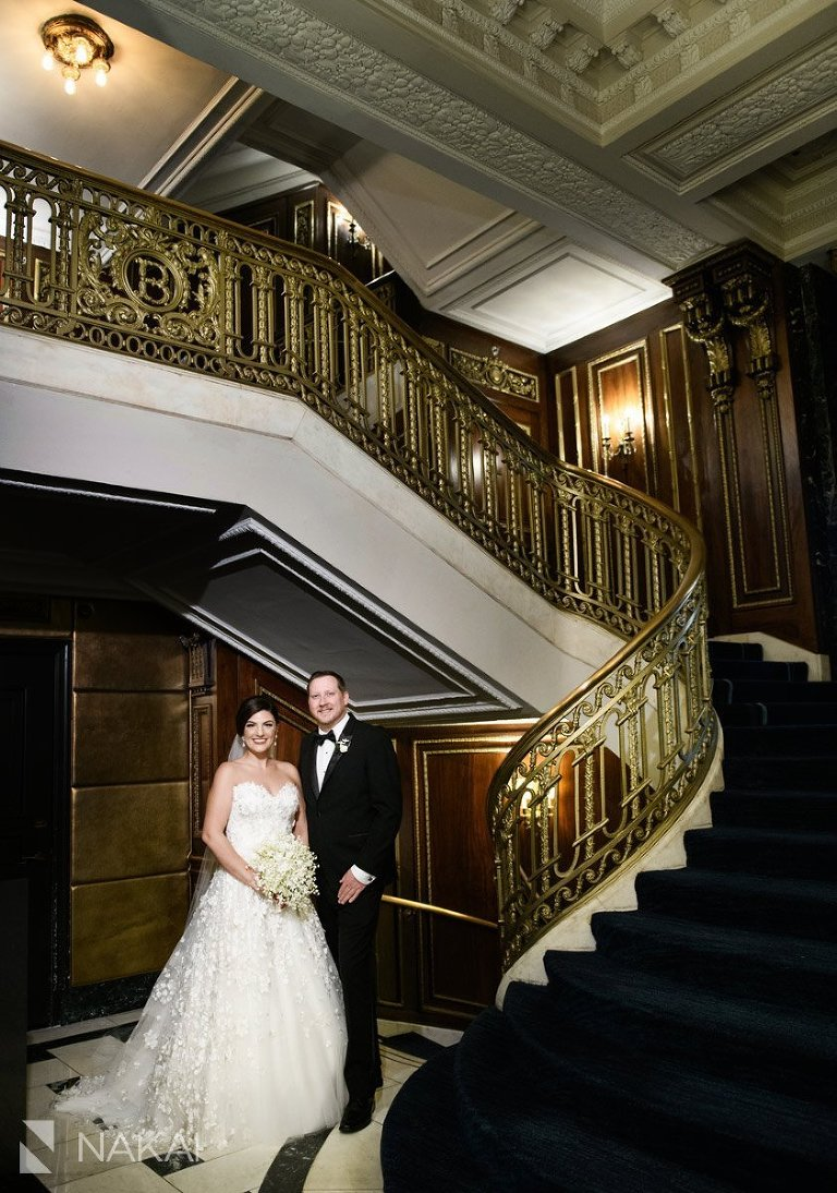blackstone hotel wedding picture lobby bride groom