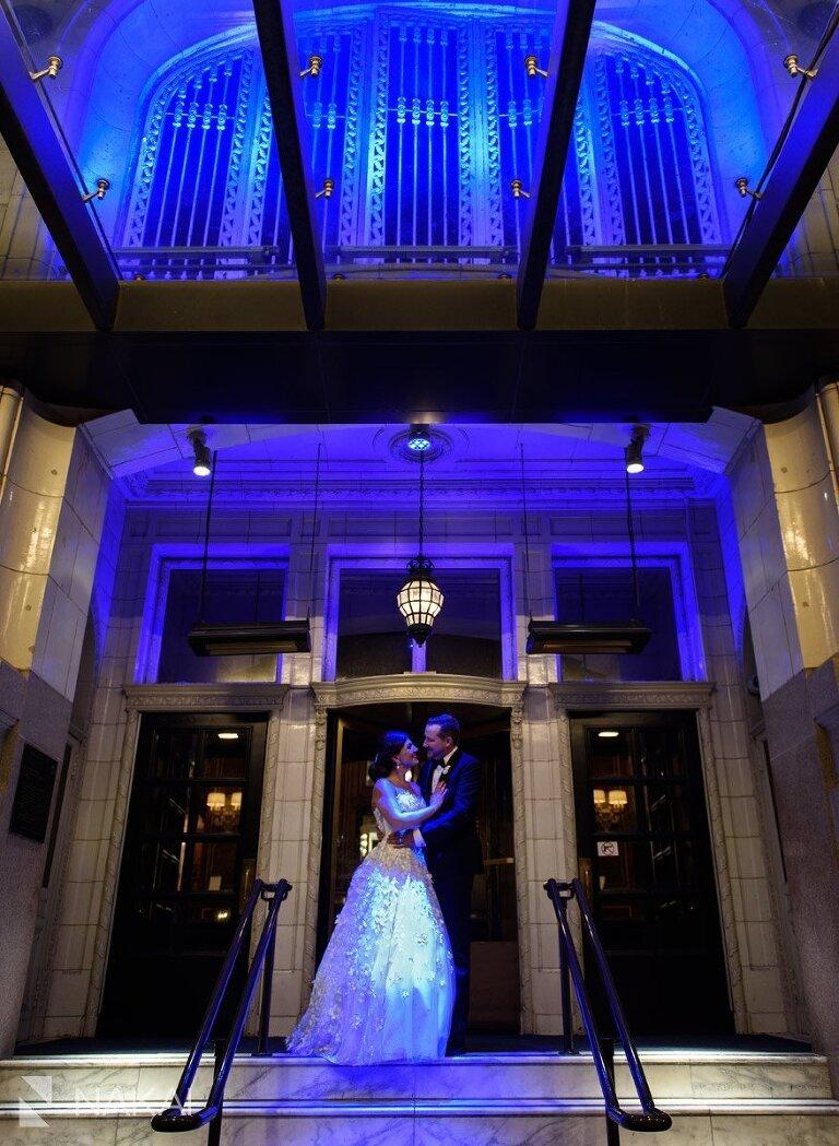 blackstone hotel wedding photo night bride groom