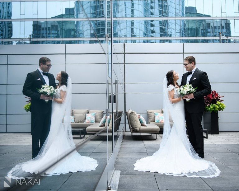 chicago loews downtown wedding photographer bride groom