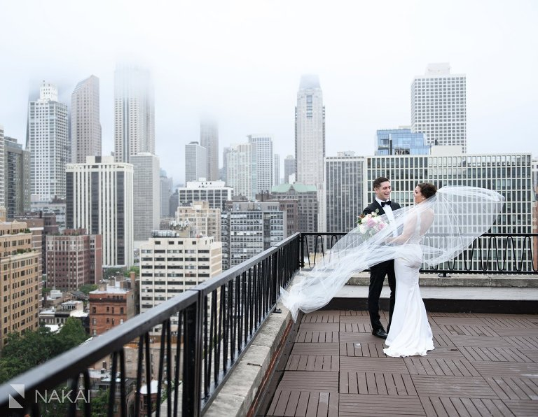 ambassador chicago wedding photo rooftop bride groom
