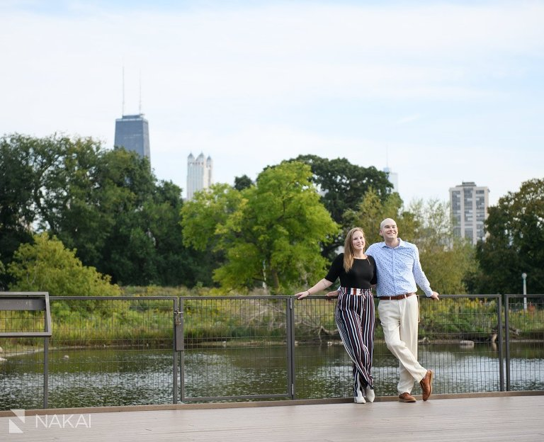 Lincoln park engagement pictures south pond proposal