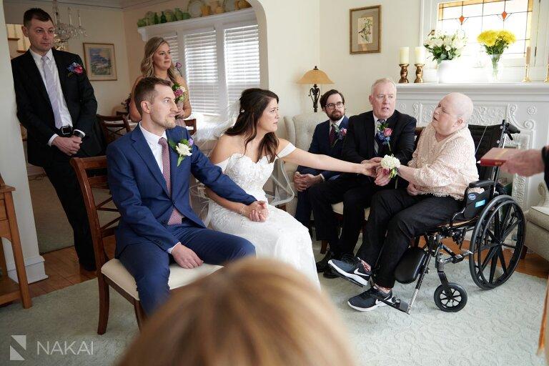 covid 19 wedding photos house cancer ceremony