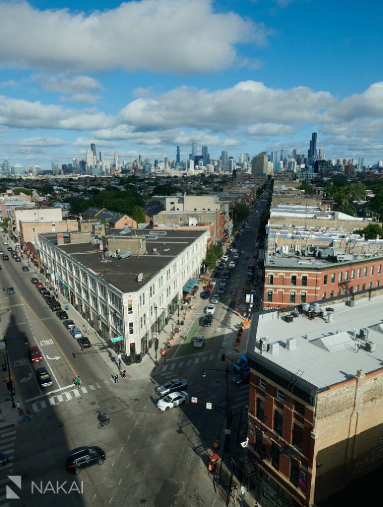 chicago intimate wedding photographer robey hotel view