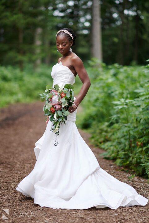 microwedding pictures chicago Morton Arboretum bride