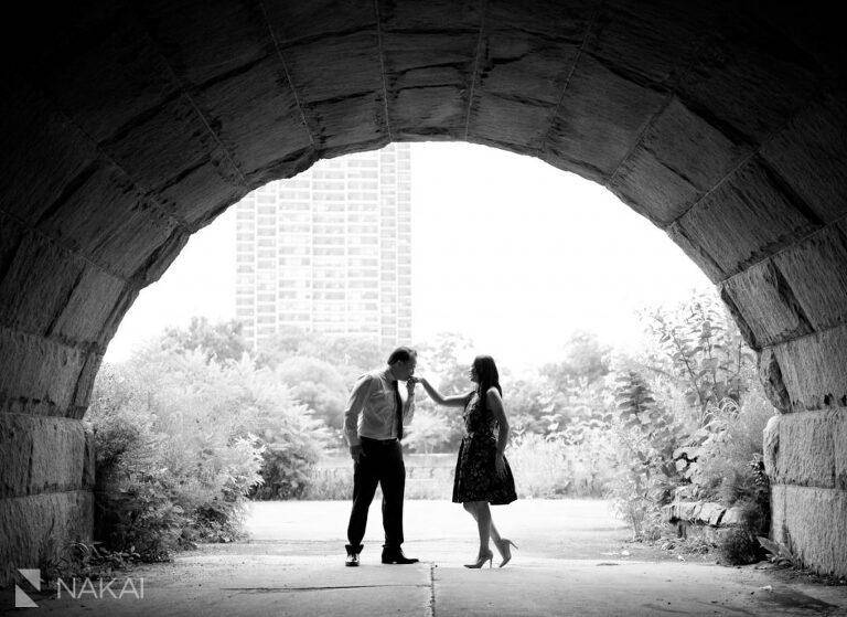 chicago engagement photos asian couple Lincoln Park
