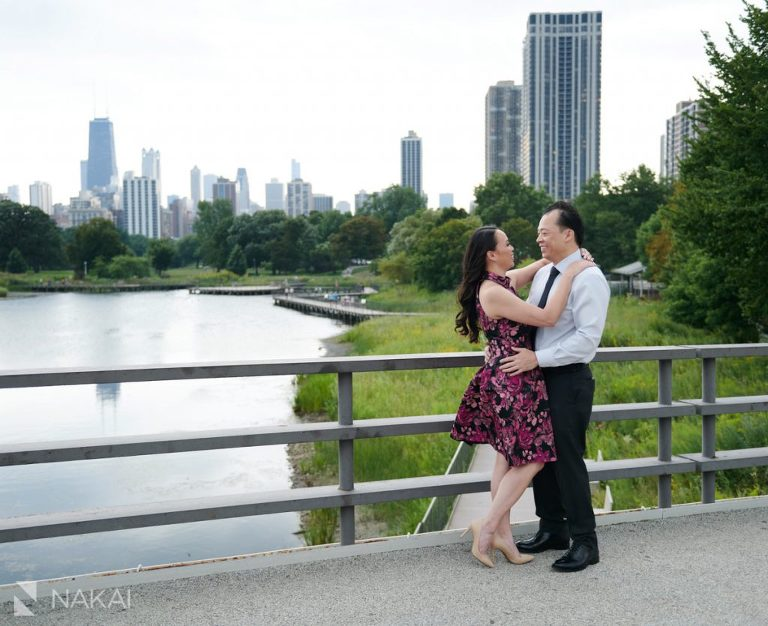 chicago engagement photographer asian couple Lincoln Park