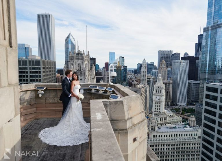 best chicago wedding photographer rooftop