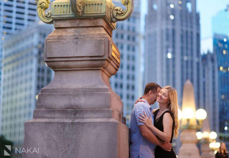 chicago riverwalk engagement photo proposal