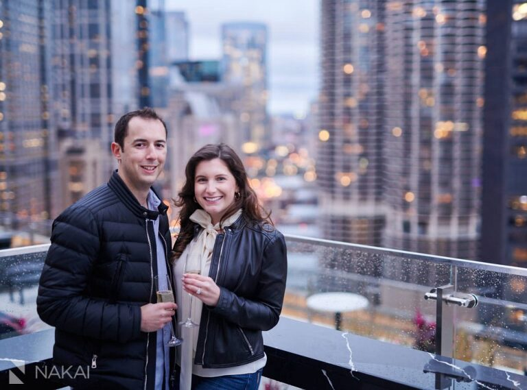 best chicago proposal photographer londonhouse cupola photo