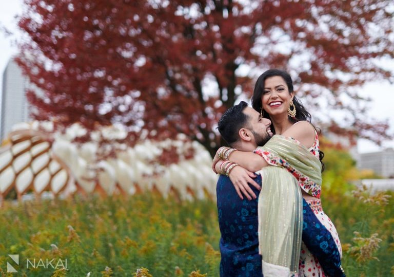 chicago indian engagement photos Lincoln Park
