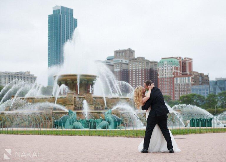 chicago post covid wedding photos Buckingham Fountain