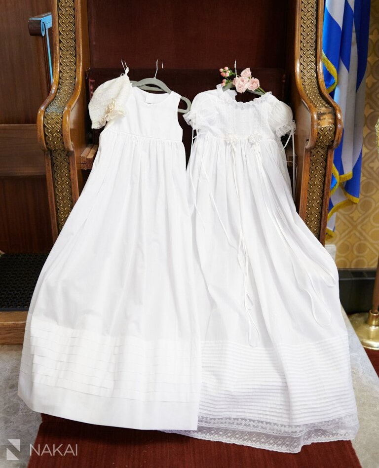 chicago Greek Orthodox baptism photos details dress