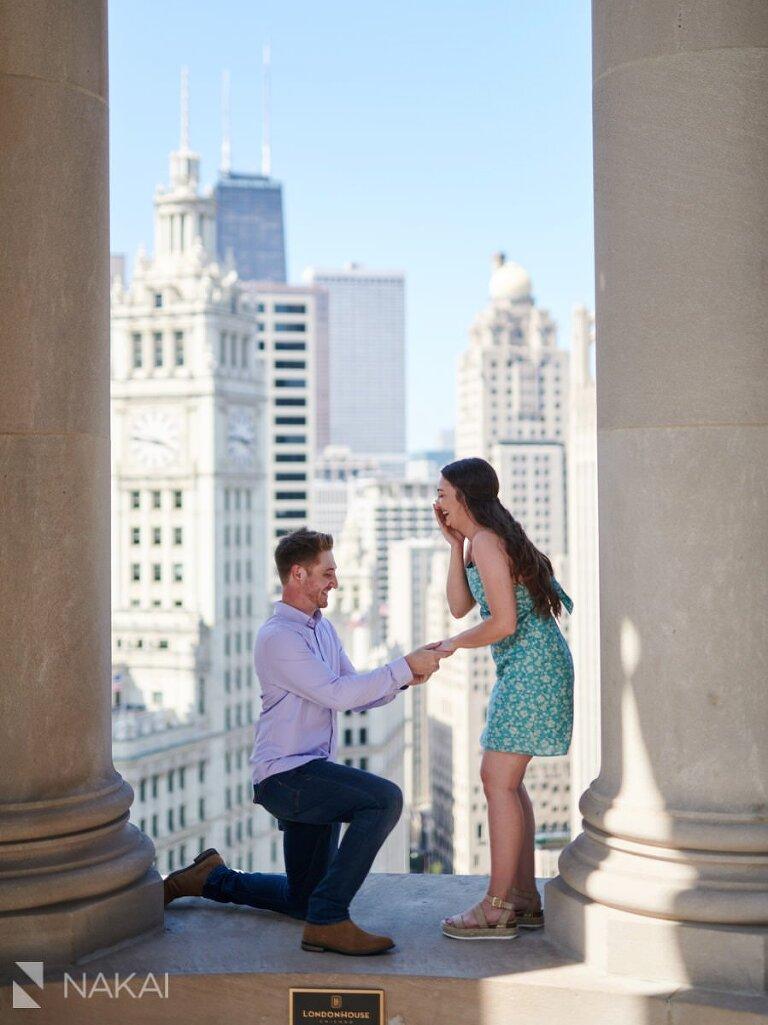 best chicago proposal location photos londonhouse