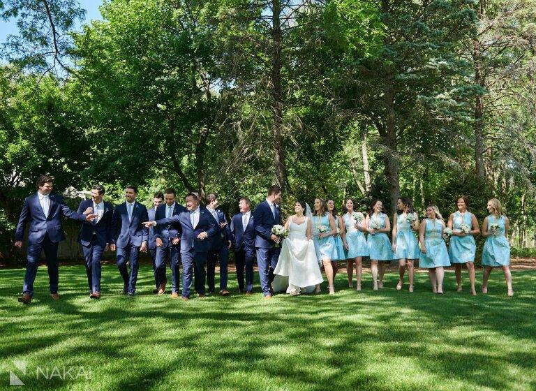 chicago north shore wedding photography bridal party backyard