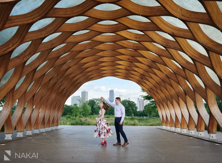 chicago Lincoln Park engagement photos honeycomb