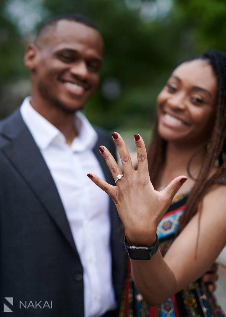 university of chicago proposal photographer ring