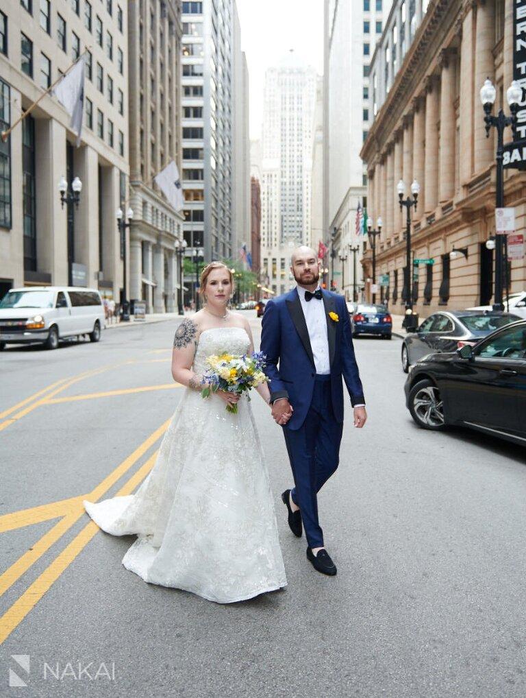 chicago summer wedding photos LaSalle Street